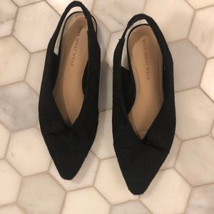 Who What Wear Black Flats